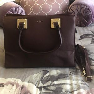 Brand New Aldo Burgundy Purse With Straps
